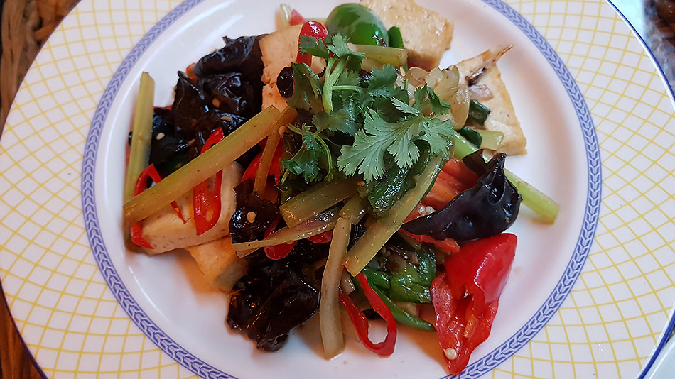 suyuan tofu with peppers